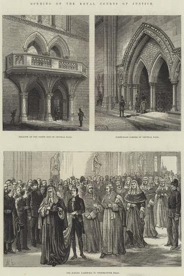 Opening of the Royal Courts of Justice--Giclee Print