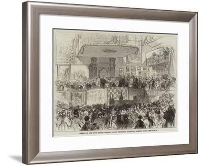 Opening of the South London Working Classes' Industrial Exhibition, Lambeth Baths--Framed Giclee Print