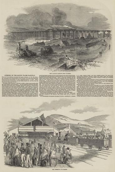 Opening of the South Wales Railway--Giclee Print