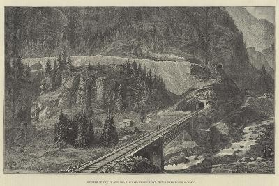 Opening of the St Gothard Railway, Tunnels and Zigzag Near Monte Piottino--Giclee Print