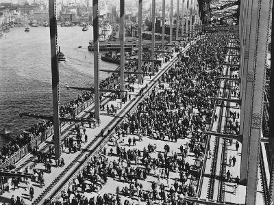 Opening of the Sydney Harbour Bridge--Photographic Print