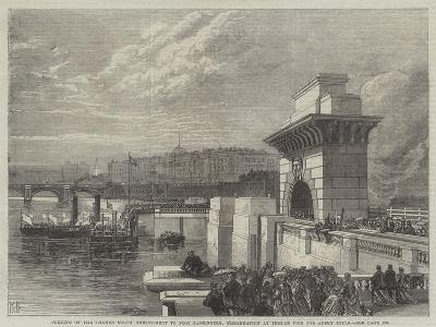 Opening of the Thames North Embankment to Foot Passengers--Giclee Print
