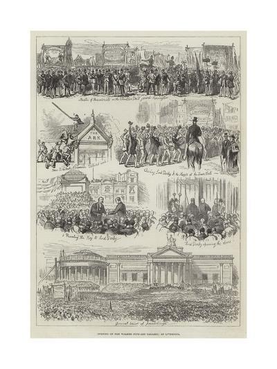 Opening of the Walker Fine-Art Gallery, at Liverpool--Giclee Print