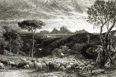 Opening the Fold, Early Morning, 1880-Samuel Palmer-Photographic Print