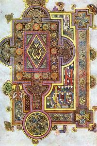 Opening Words of St Luke's Gospel Quoniam from the Book of Kells, C800