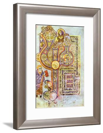 Opening Words of St Matthew's Gospel Liber Generationes, from the Book of Kells, C800--Framed Giclee Print