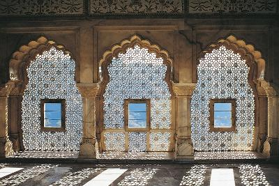 Openwork Windows in Mandir Jess Hall, Amber Fort or Amber Palace--Giclee Print