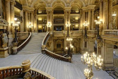 Opera Garnier, Grand Staircase, Paris, France-G & M Therin-Weise-Photographic Print