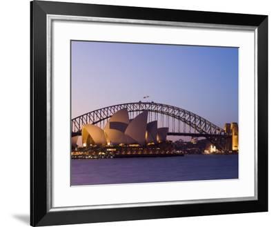 Opera House and Harbour Bridge, Sydney, New South Wales, Australia, Pacific-Sergio Pitamitz-Framed Photographic Print