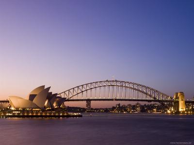 Opera House and Harbour Bridge, Sydney, New South Wales, Australia, Pacific-Sergio Pitamitz-Photographic Print