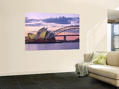 Opera House and Harbour Bridge, Sydney, New South Wales, Australia-Michele Falzone-Wall Mural