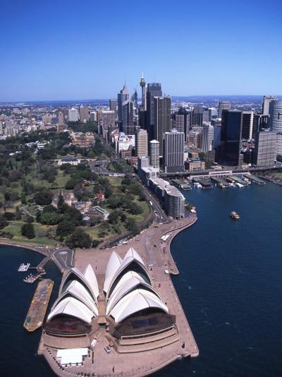 Opera House and Sydney Harbor Bridge, Australia-David Wall-Photographic Print