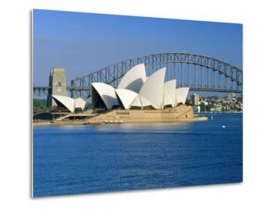 Opera House and Sydney Harbour Bridge, Sydney, New South Wales, Australia-Gavin Hellier-Metal Print