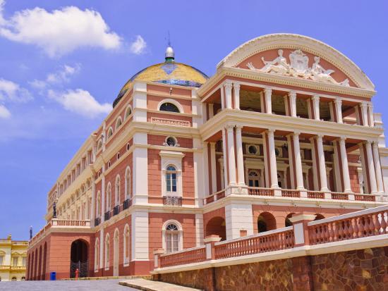 Opera House, Manaus, Amazonas, Brazil, South America-Nico Tondini-Photographic Print