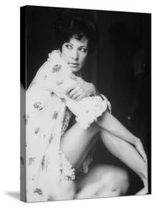 """Opera Singer and Actress Anna Moffo Wantonly in Scene from the Italian Movie """"A Story of Love."""""""