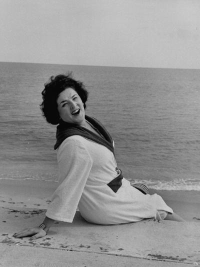 Opera Singer Birgit Nilsson Vacationing--Premium Photographic Print