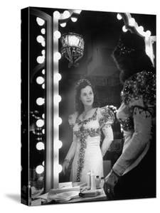 Opera Singer Nadine Connor Posing in Costume