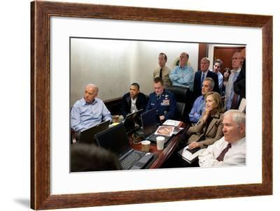Operation Neptune's Spear,' the Mission Against Osama Bin Laden, May 1, 2011--Framed Photo