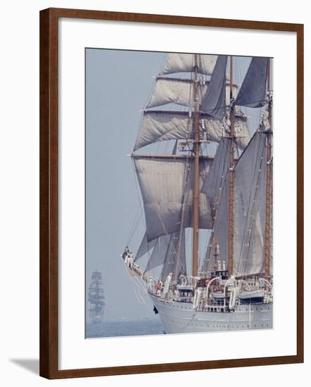 Operation Sail in New York Harbor-John Loengard-Framed Photographic Print