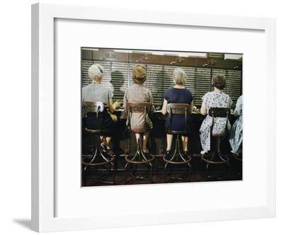 Operators at the White House Switchboard around 1960--Framed Photographic Print