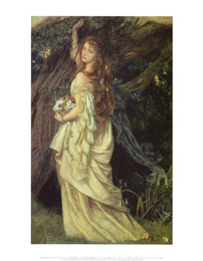 Ophelia and He Will Not Come Again, 1863-64-Arthur Hughes-Art Print