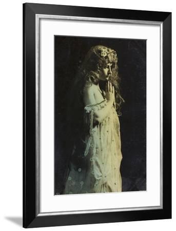 Ophelia-Like Girl--Framed Photographic Print