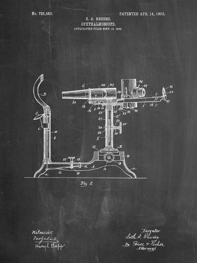 Ophthalmoscope Patent-Cole Borders-Art Print