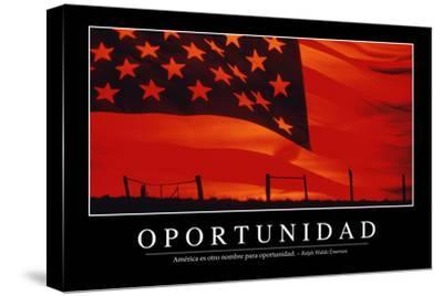 Oportunidad. Cita Inspiradora Y Póster Motivacional