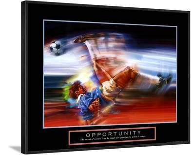 Opportunity: Soccer-Bill Hall-Framed Art Print