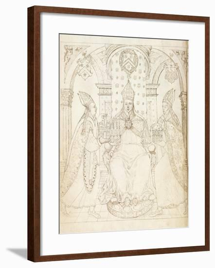 Opposite Title Page of 'Life of William of Wykeham' by Thomas Martin, London 1597--Framed Giclee Print