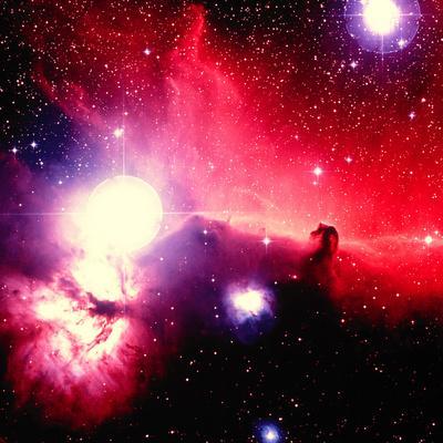Optical Image of Horsehead Nebula And Sur-Celestial Image-Photographic Print