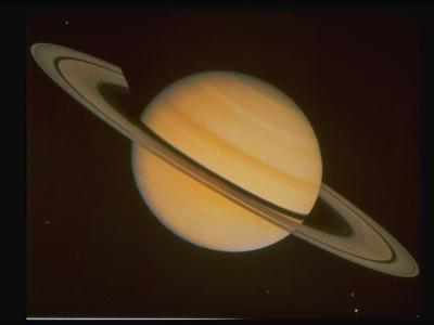 Optical Pictures Taken by Voyager 1 of Planet Saturn--Photographic Print