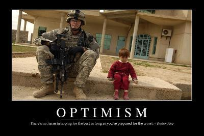 Optimism: Inspirational Quote and Motivational Poster--Photographic Print