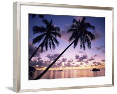 Opunohu Bay, Moorea, French Polynesia-Douglas Peebles-Framed Photographic Print