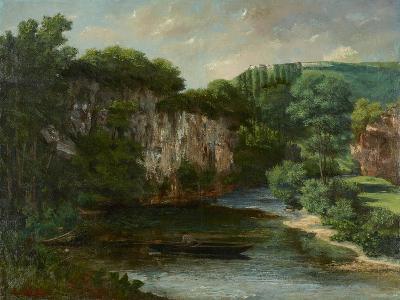 Oraguy Rock (La Roche Oraguay, Vallon De Maisieres, Doubs), 1860-Gustave Courbet-Giclee Print