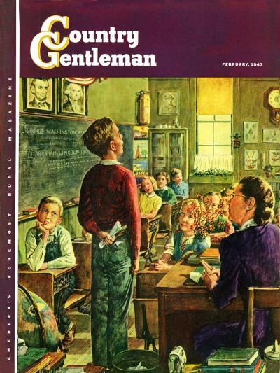 """""""Oral Report,"""" Country Gentleman Cover, February 1, 1947-W^C^ Griffith-Giclee Print"""