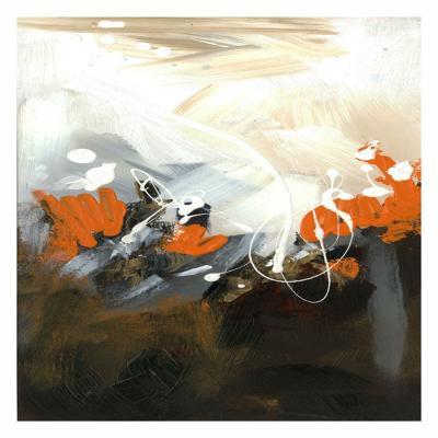 Orange Abstract-Meejlau-Art Print