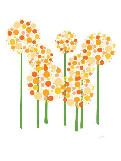 Orange Alliums-Avalisa-Art Print
