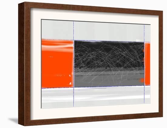 Orange and Black-NaxArt-Framed Art Print