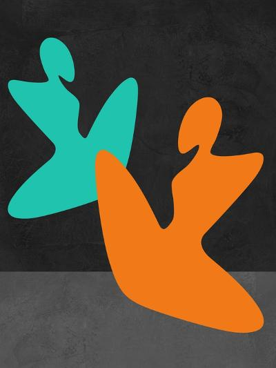 Orange and Blue Girls-Felix Podgurski-Art Print