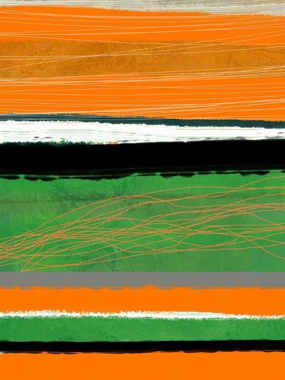 Orange and Green Abstract 2-NaxArt-Art Print