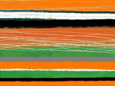 Orange and Green Abstract 3-NaxArt-Art Print