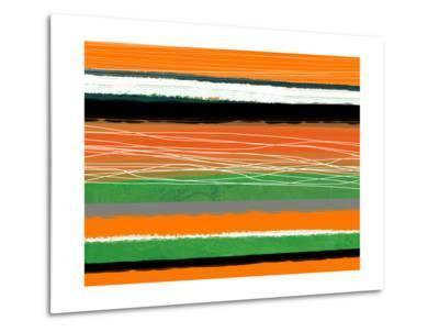 Orange and Green Abstract 3-NaxArt-Metal Print