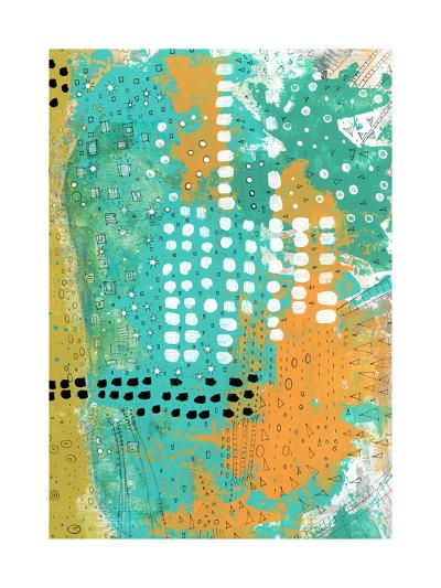 Orange and Green Abstract-Sarah Ogren-Art Print