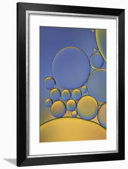 Orange and Purple Drops-Cora Niele-Framed Photographic Print