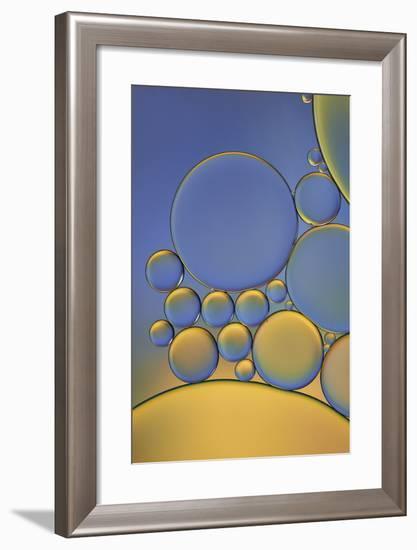 Orange and Purple Drops-Cora Niele-Framed Photographic Print