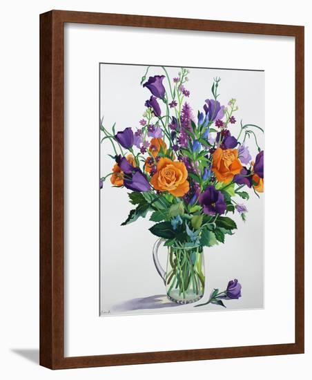 Orange and Purple Flowers-Christopher Ryland-Framed Premium Giclee Print