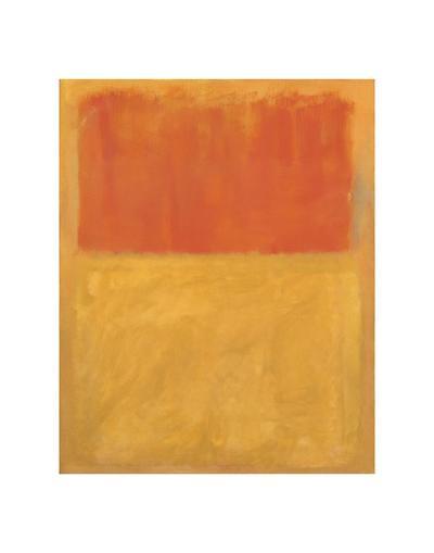 Orange and Tan, 1954-Mark Rothko-Art Print