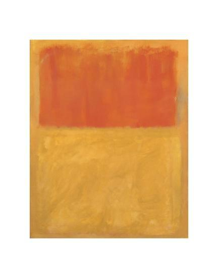 Orange and Tan, 1954-Mark Rothko-Art Print