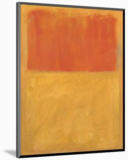 Orange and Tan, 1954-Mark Rothko-Mounted Art Print